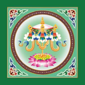 藏式吉祥八宝PVC新款古建寺庙吊顶彩绘天花吊顶材料/扣板天花