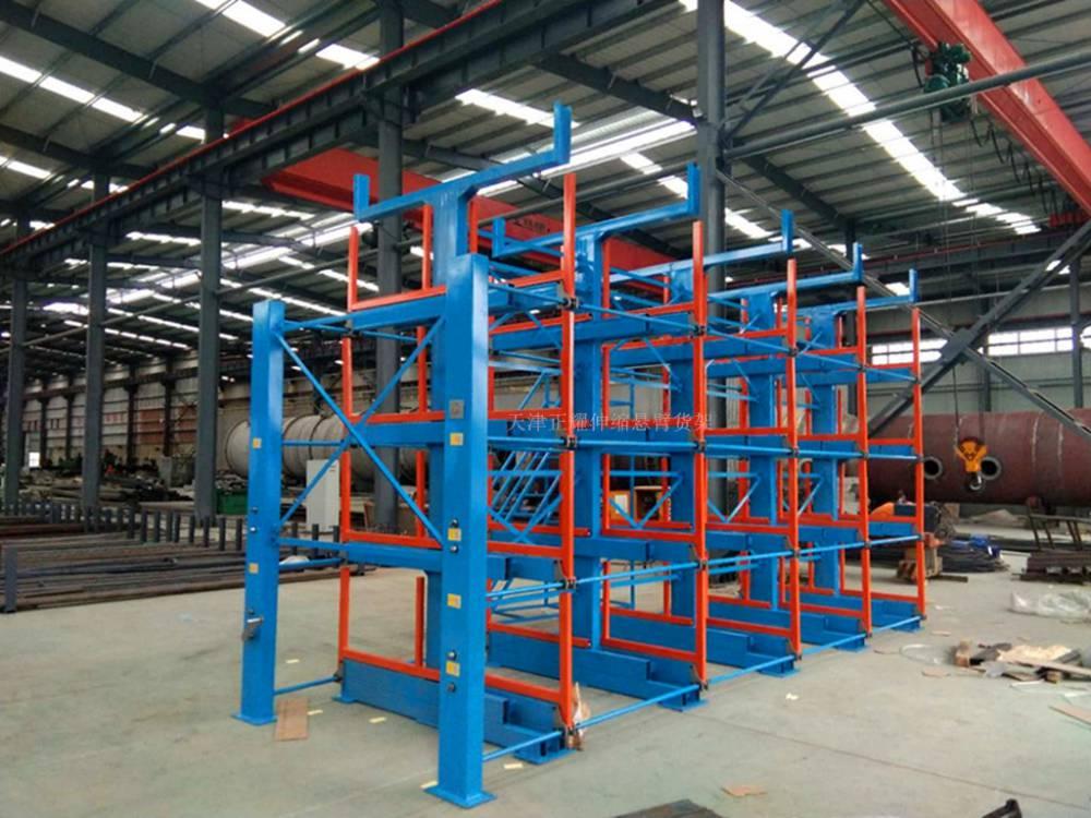 福州伸缩式悬臂货架价格 重型货架设计 放钢管的架子 钢材的储存方法