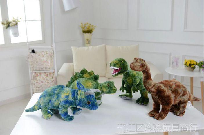 【毛绒玩具仿真恐龙 恐龙大战 恐龙王国电影 一