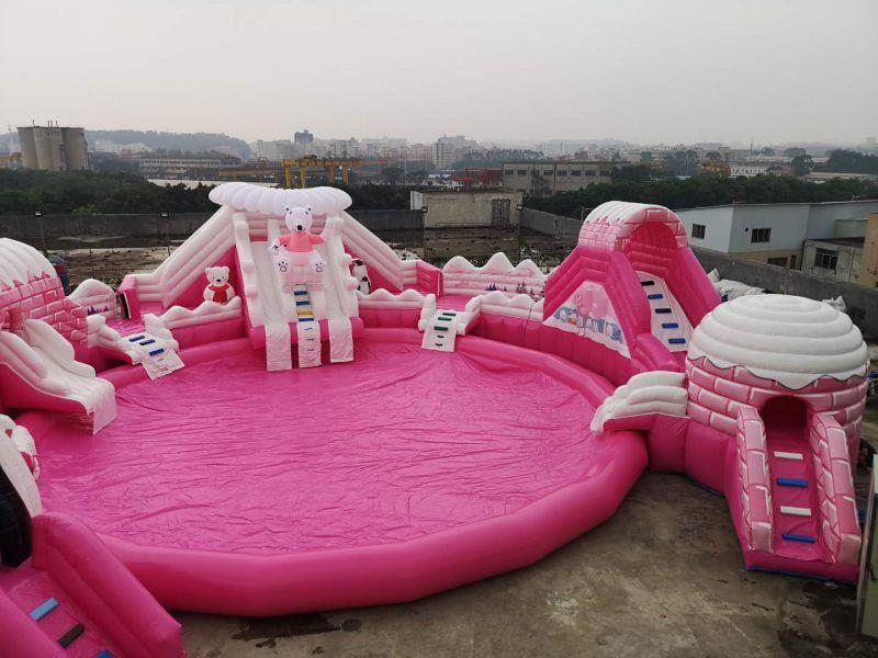 粉色水上乐园出租粉色冰雪世界水上乐园租赁水上闯关出租