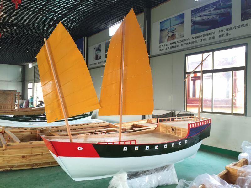 江苏木船厂家定制各类室内装饰船 景观木船 帆船 海盗船