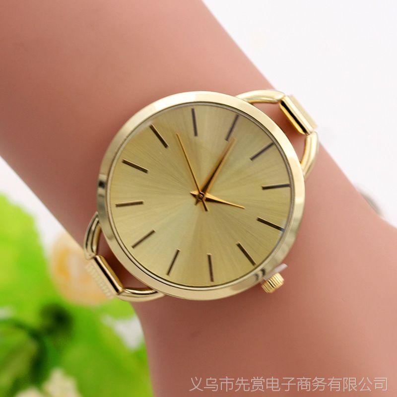 钢丝带女表 网带彩色面合金时装饰品外贸手表 手镯手链表厂家批发