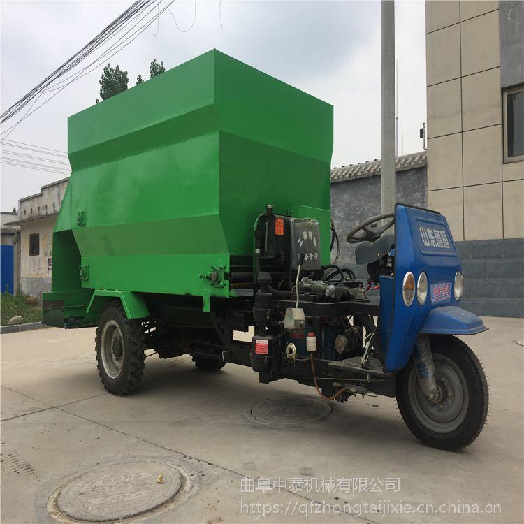 电动60伏电瓶喂牛车现代化环保养殖喂料机中泰定制撒料车