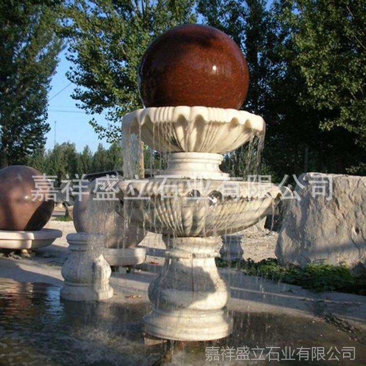 供应风水转运球石雕喷泉 景区庭院花岗岩喷泉 流水喷泉