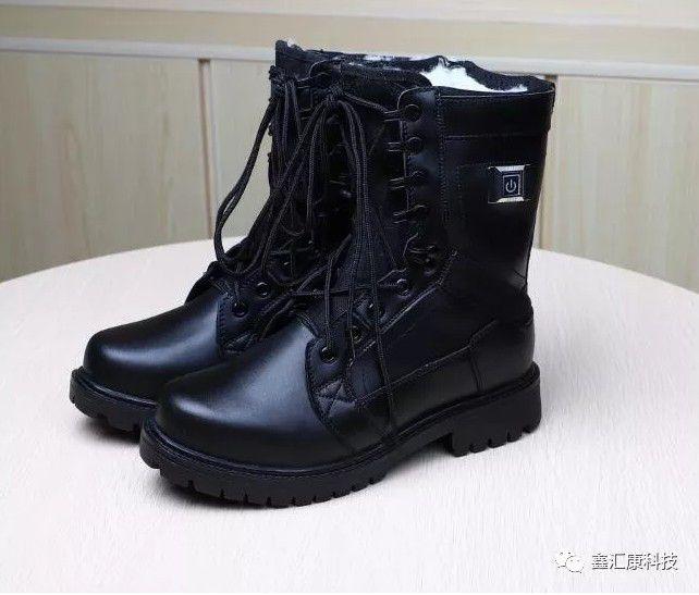 黑龙江户外防寒鞋 电热鞋 发热保暖皮鞋充电鞋