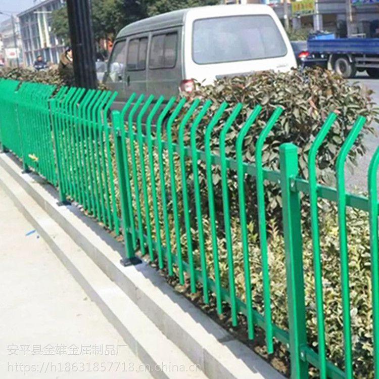 塑钢焊接绿化耙子栏杆 金雄铁艺护栏生发产厂家批