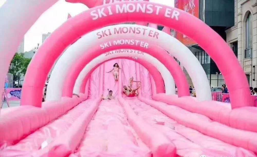 2019新款水上乐园设备租赁 粉色滑道出租