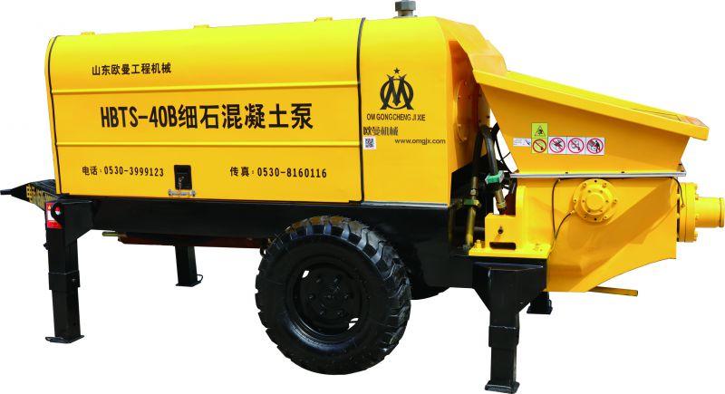 回填混凝土输送泵 回填泵  40细石泵 陶粒输送泵