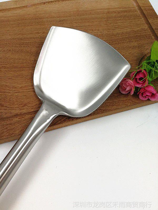 不锈钢厨师家用炒菜无磁马勺视频长柄加厚炒勺素材歌曲勺子图片