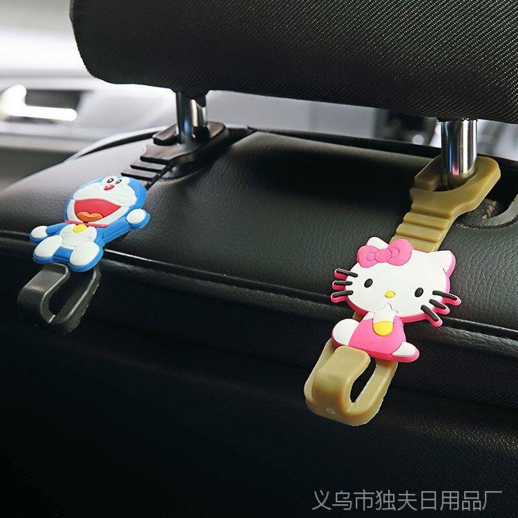 0066多功能车载汽车用品座椅背2个装 创意车用挂钩车内挂钩置物
