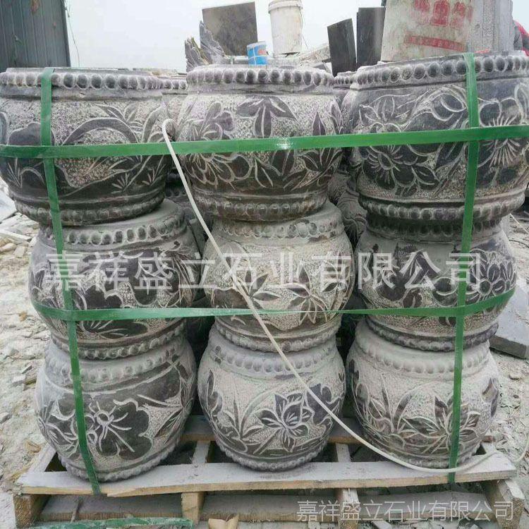 专业厂家生产各种青石石鼓 古建做旧石墩 雕花柱基石