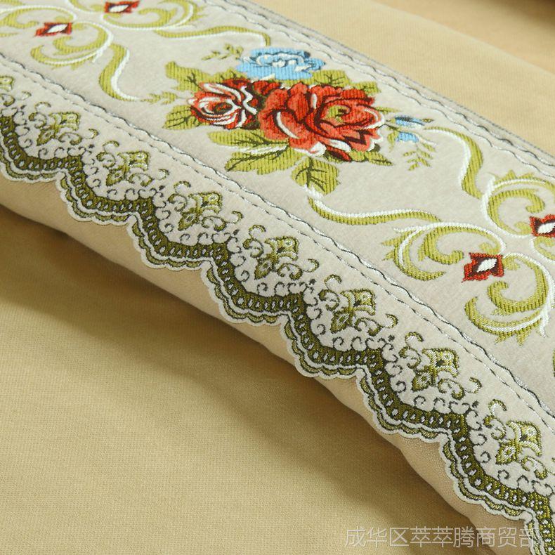 美容床罩四件套纯棉纯色欧式小奢华简约舒适亲