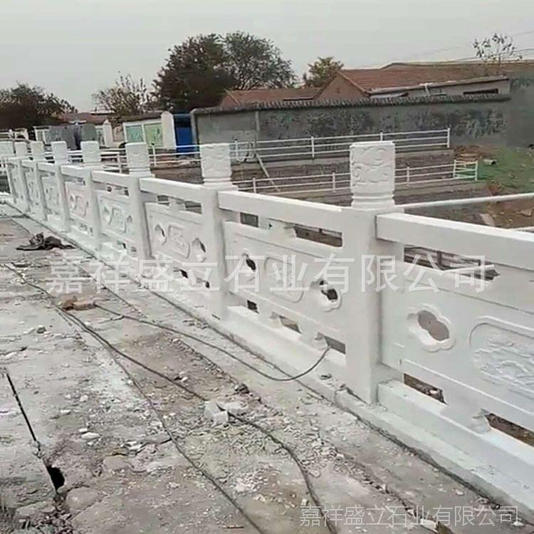 石材厂家出售精美汉白玉石栏杆 河岸浮雕桥栏板 量大从优
