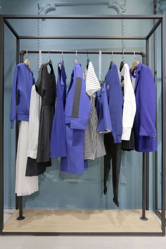 T恤浅蓝色衬衫艾丽莎折扣女装批发服装尾货进货渠道