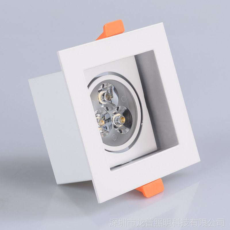 COB方形射灯LED格栅灯5w客厅背景墙3w走廊过道天花灯铝方通80*80