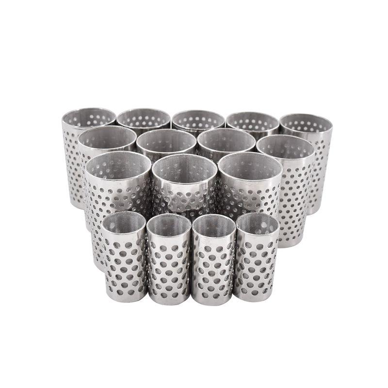 304不锈钢孔板网筒60目80目圆孔滤网带法兰边