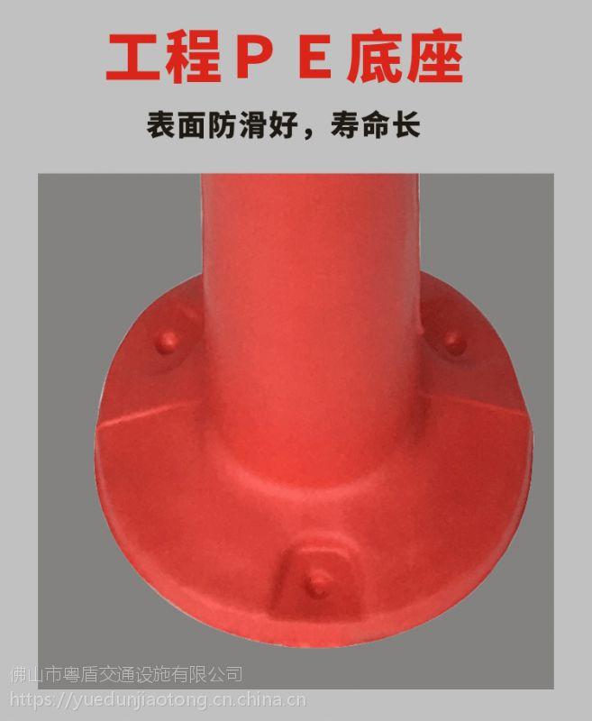 广东佛山厂家直销  粤盾交通PE塑料弹力柱警示柱柔性禁止柱橡胶车位塑料桩(图6)