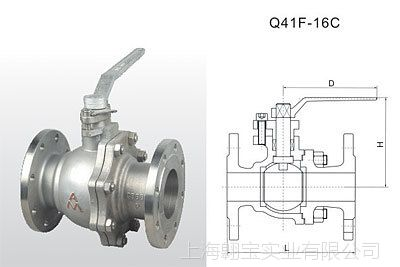 埃美柯Q41F-16C铸钢法兰球阀9291DN25DN32DN40DN50DN65DN80-DN200