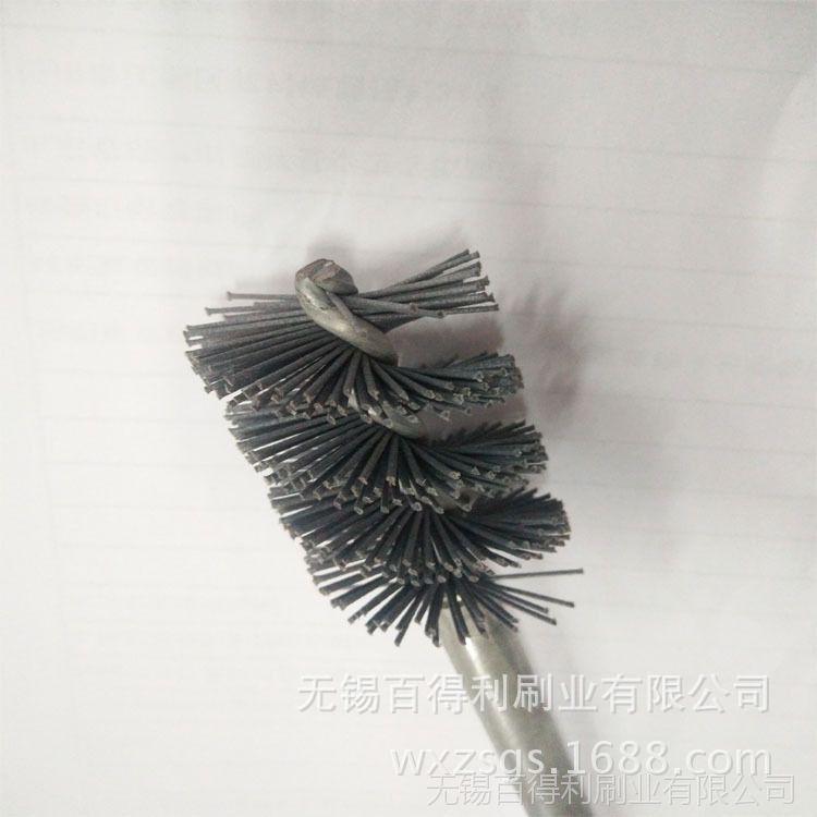 磨料丝刷 不锈钢丝管道刷 去毛刺管道刷厂家销售 打磨抛光管道刷