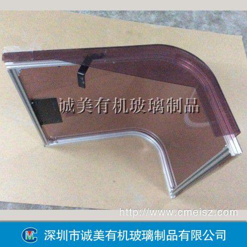 亚克力防护罩 有机玻璃弧形盖 危险设备压克力热弯罩壳