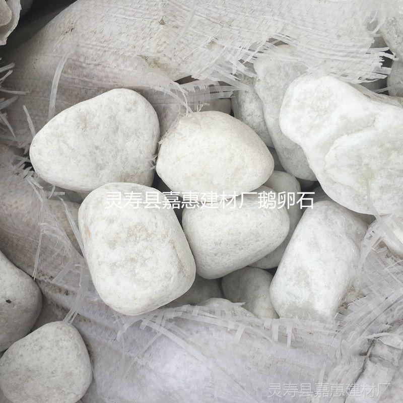 天然白 鹅卵石 花卉铺面3-6mm 庭院造景白石头
