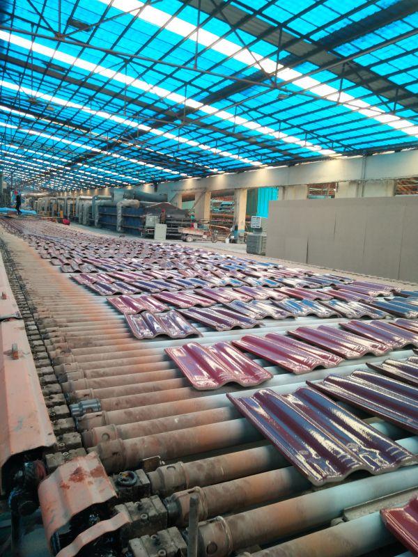 屋面烧结全瓷彩瓦生产线