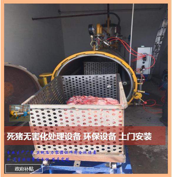 死猪无害化处理设备 高温湿化设备