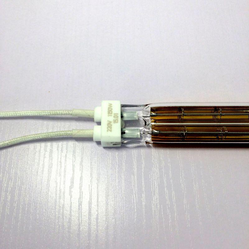 优质红外镀半面金双管石英加热管、石英加热灯
