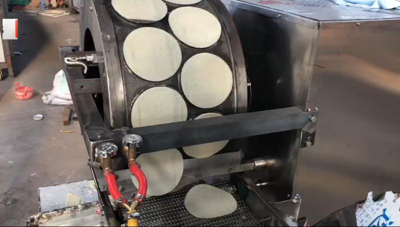 优品自动燃气加热烤鸭饼机   鸭饼机生产厂家