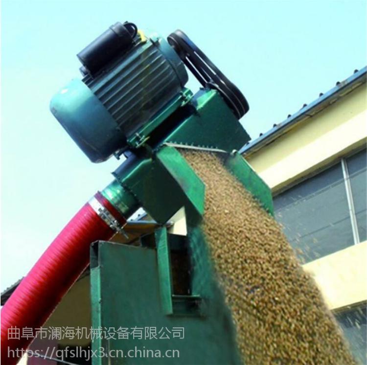 澜海 热销多功能玉米吸粮机 蛟龙软管吸粮机 随车收粮装粮机