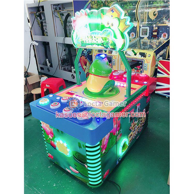 广东中山泰乐游乐经典打豆豆机青蛙王子喷气游乐设备