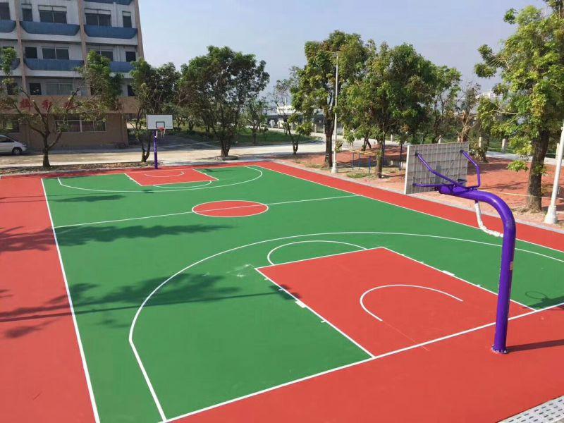 丙稀酸篮球场丙稀酸篮球场地材料厂家价格专业施工质量保证