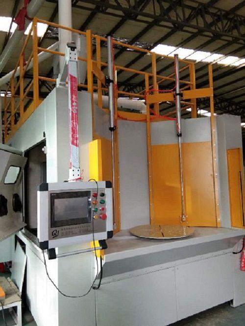 环保达标发动涡轮叶片数控喷丸机定制厂家_内燃机涡轮叶片喷砂机