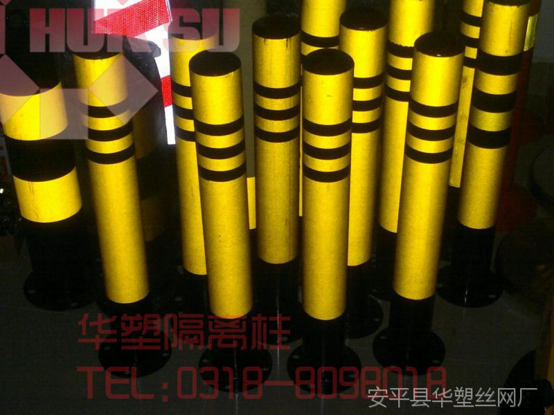 【现货供应】反光防撞路桩、防护柱、停车桩、挡车立柱、路障柱