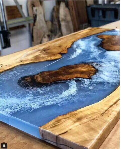 树脂木头桌