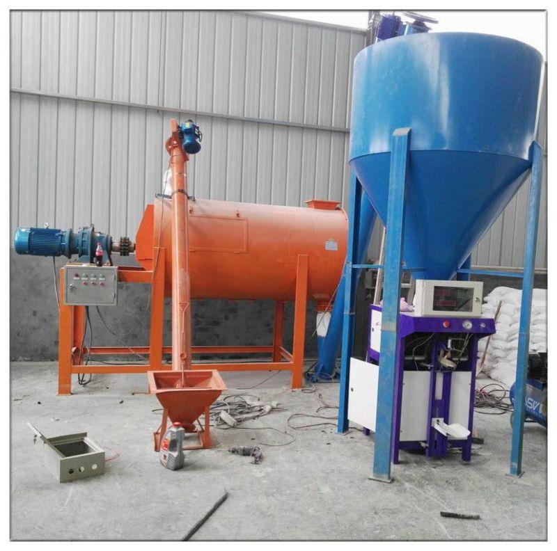 小型干粉砂浆生产机组使用现场