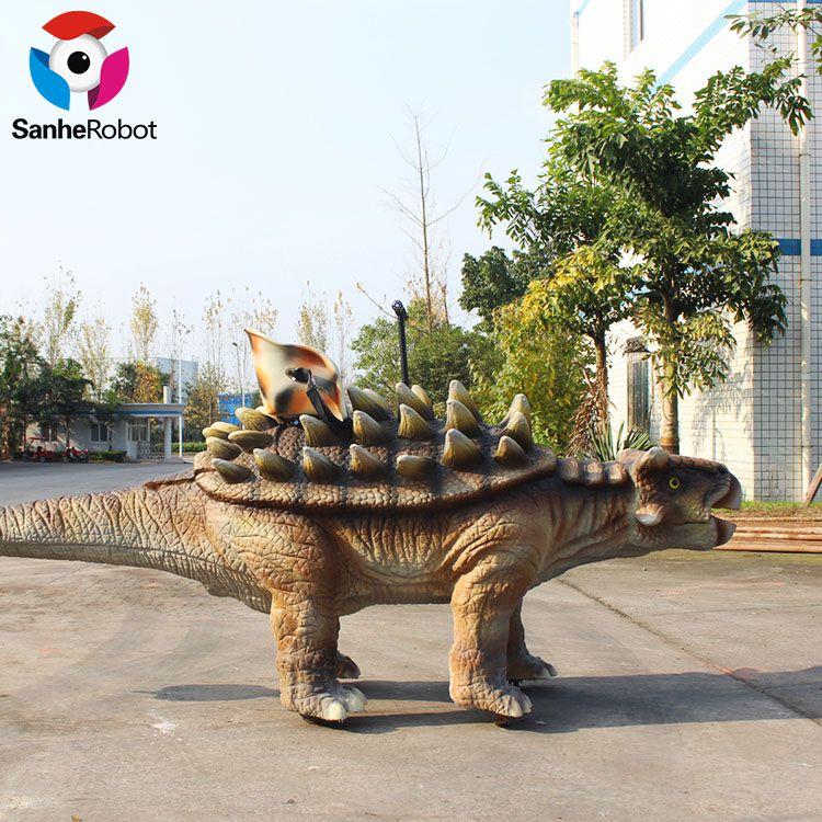 可以骑乘行走的甲龙机电恐龙模型