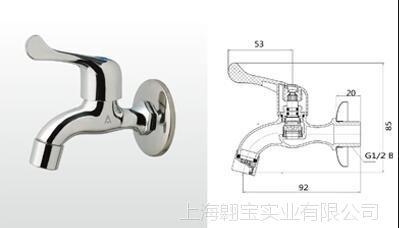 埃美柯532铜壳陶瓷芯快开防溅洗衣龙头 拖把龙头DN15 4分