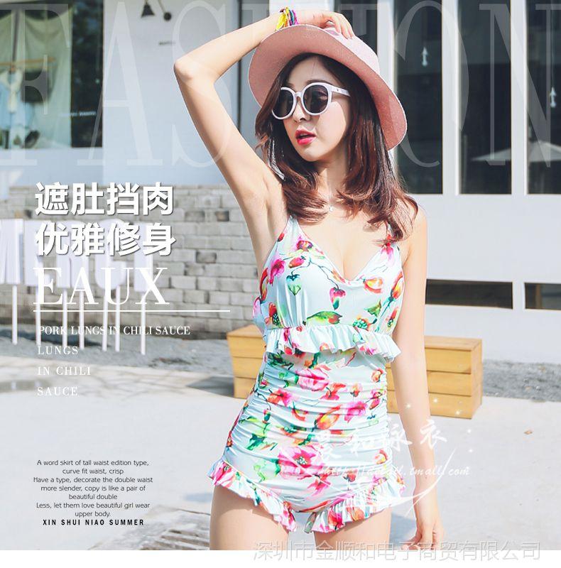 JSH韩国聚拢钢托泳衣女性感遮肚大胸小胸性感图片张檬图片搜索大全连体图片