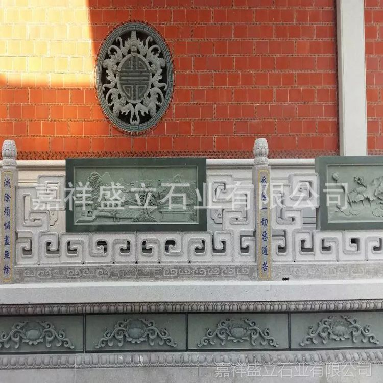 承接各类建筑工程石栏杆 花岗岩镂空高档寺庙栏杆 质量保证