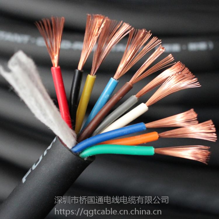 深圳QGT裸铜线PVC外被RVV2芯大量黑色现货销售批发