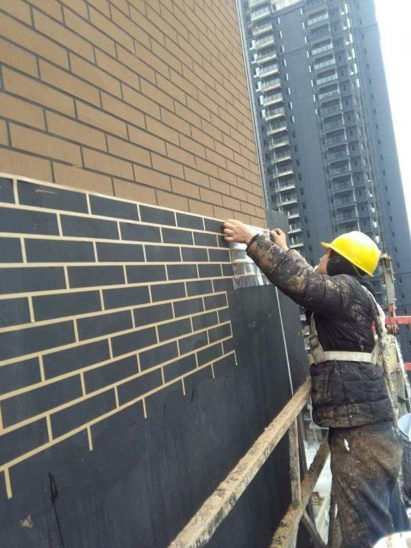 仿砖模具施工现场视频