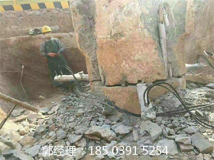 花岗岩劈裂机无飞屑与岩石粒劈裂机厂家