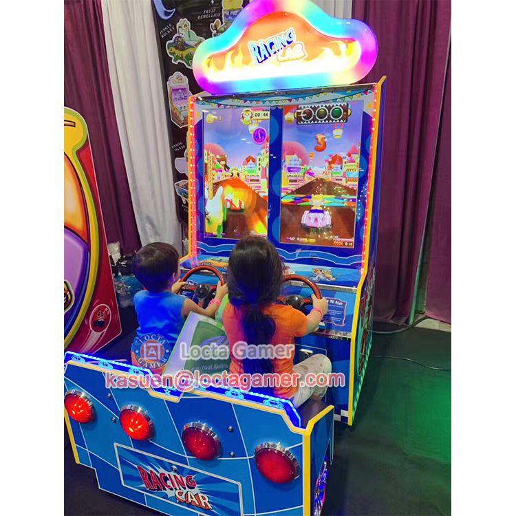 广东中山泰乐游乐儿童亲子互动欢乐小赛车捡金币游乐赛车机