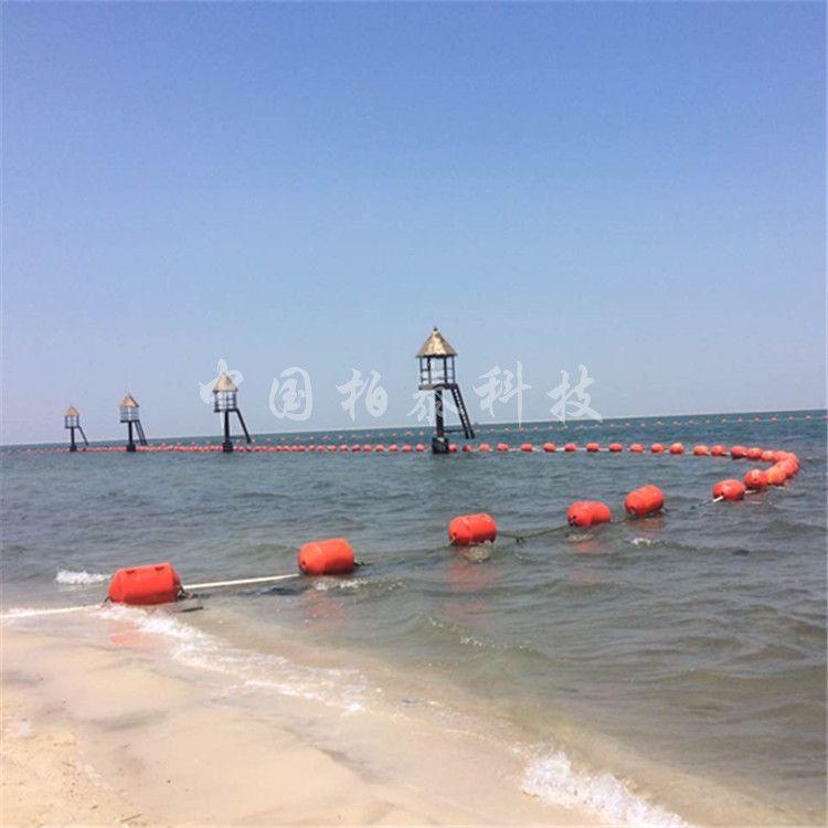 北戴河浴场抗风浪防鲨网浮筒 海蜇拦截网浮漂