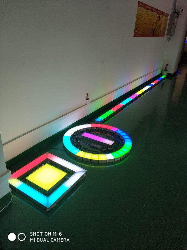 广场不锈钢地砖灯_钢化玻璃LED地砖灯