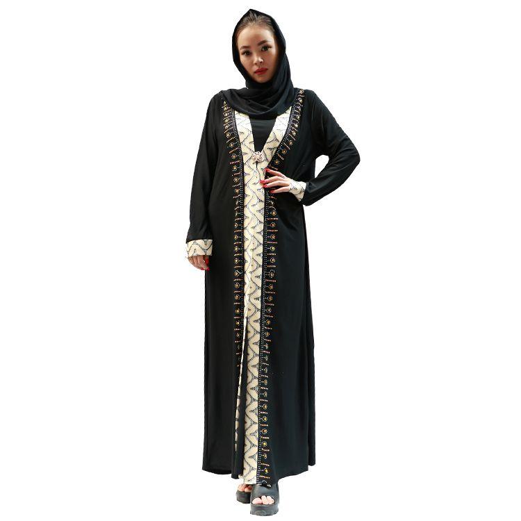穆斯林烫钻长袍出口阿拉伯国家流行的伊斯兰长袍