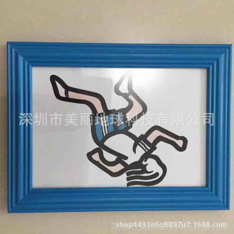 厂家批发大尺寸白色相框儿童影楼画框拼图框九宫格蓝色框 可定制