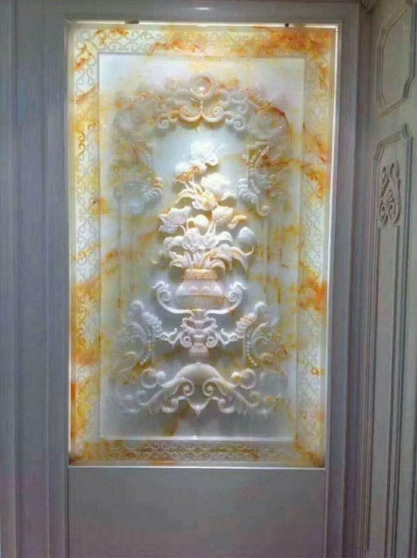 玉石背景墙雕刻-看工大石材雕刻机怎么完美诠释