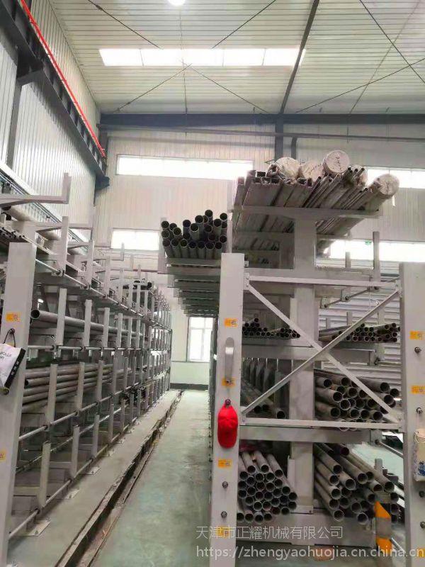 湖南伸缩货架 棒材货架 行车配套用悬臂架